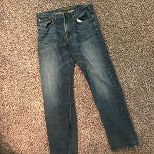 Men's AE relaxed straight jeans med wash 34x34